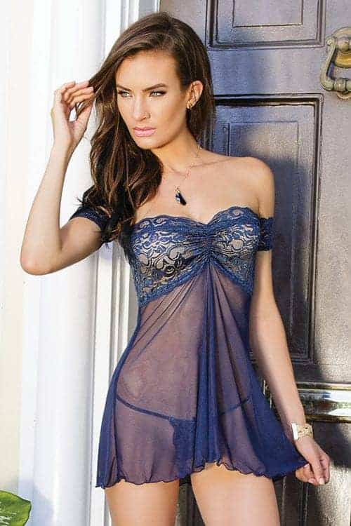 Coquette Off the Shoulder Lace Babydoll