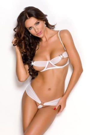 Anais Sonya White Exposed Bra front