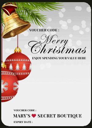Merry Christmas Gift Voucher