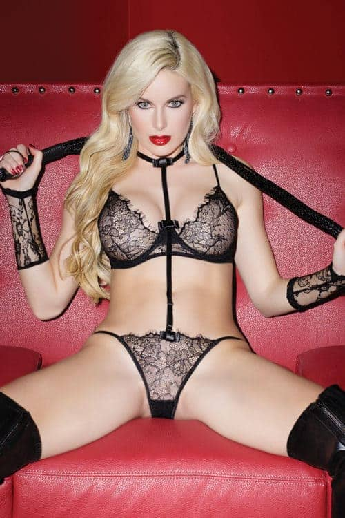 Coquette Scalloped Eyelash Lace Teddy front
