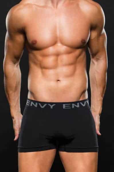 Envy Seamless Black Boxer E063 front