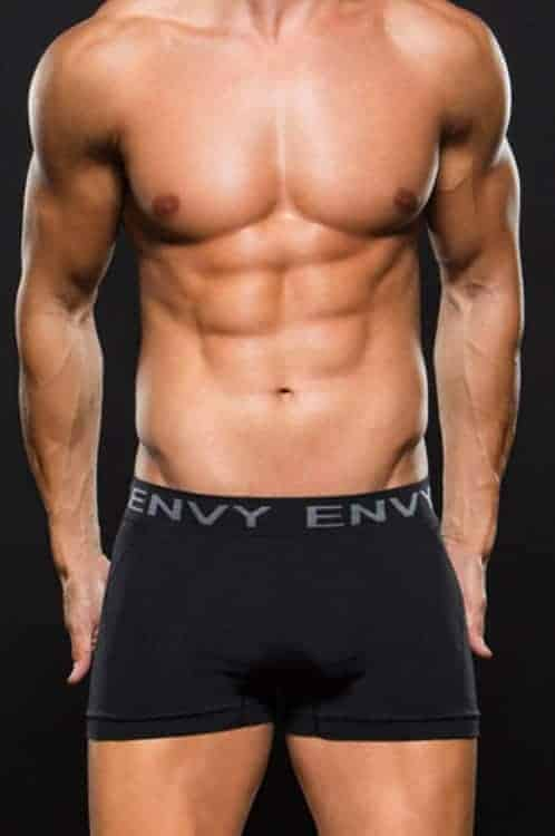 Envy Seamless Black Boxer E063 front