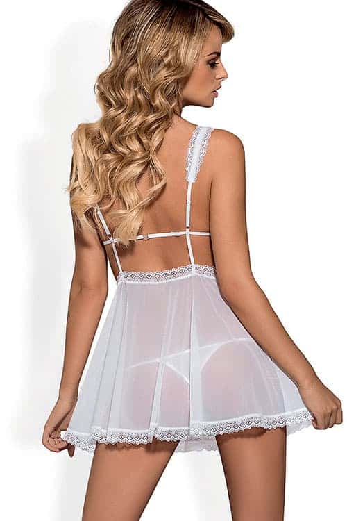 3a677d9097 Obsessive Swanita Babydoll with Thong - Marys Lingerie