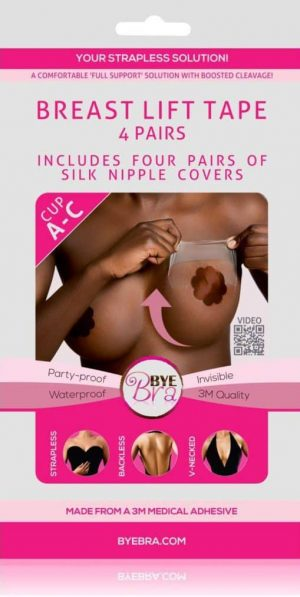 Bye Bra A-C with Dark Silk Nipple Covers front