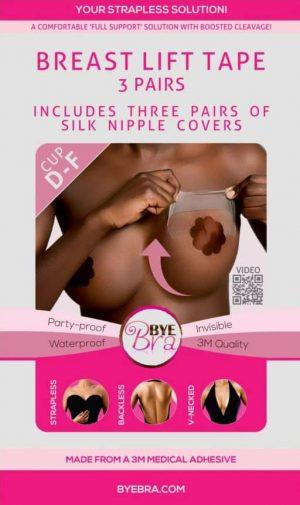 Bye Bra D-F with Dark Silk Nipple Covers front