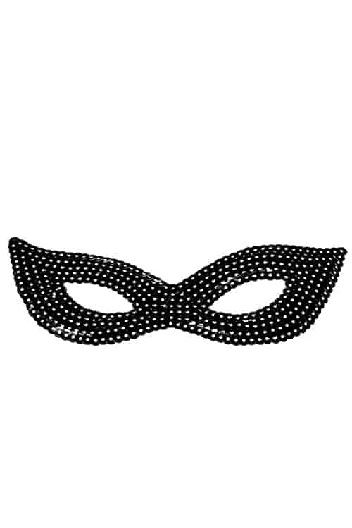 Forplay Black Sequin Mask