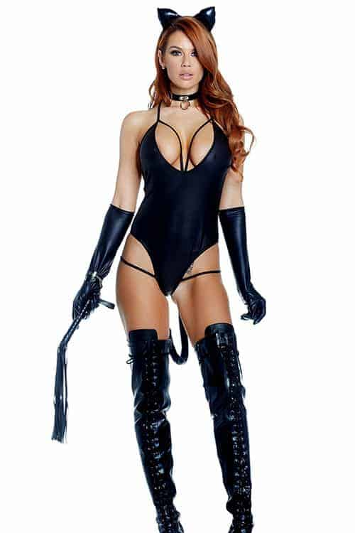 Forplay Sexy Black Untamed Cat Costume front