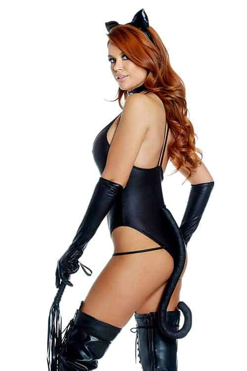Forplay Sexy Black Untamed Cat Costume back