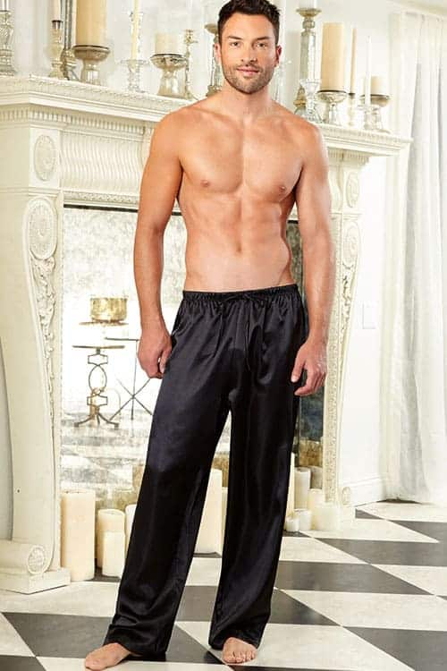 Dreamgirl Mens Charmeuse Pants 3863 front 2