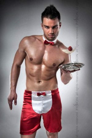 Passion Satin Waiter Boxer with Bow Tie front