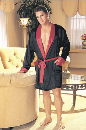 Shirley of Hollywood Charmeuse Satin Robe 20061 front