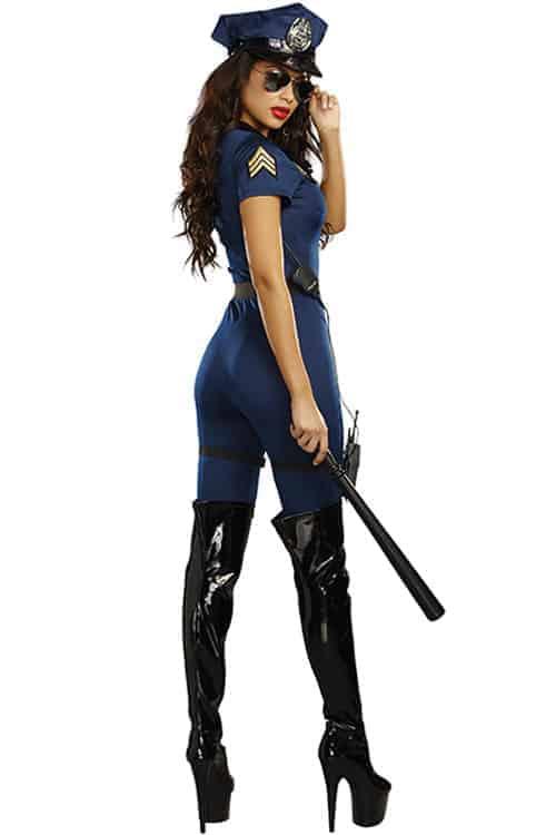 Dreamgirl 8 Pce Lieutenant Ivana Misbehave Costume back