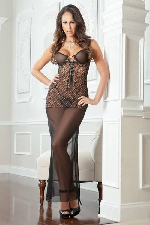 G world 2pc Sexy Night Gown front