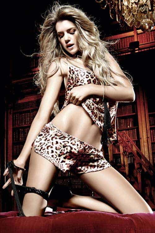 Baci Leopard Satin Camisole 3036 front