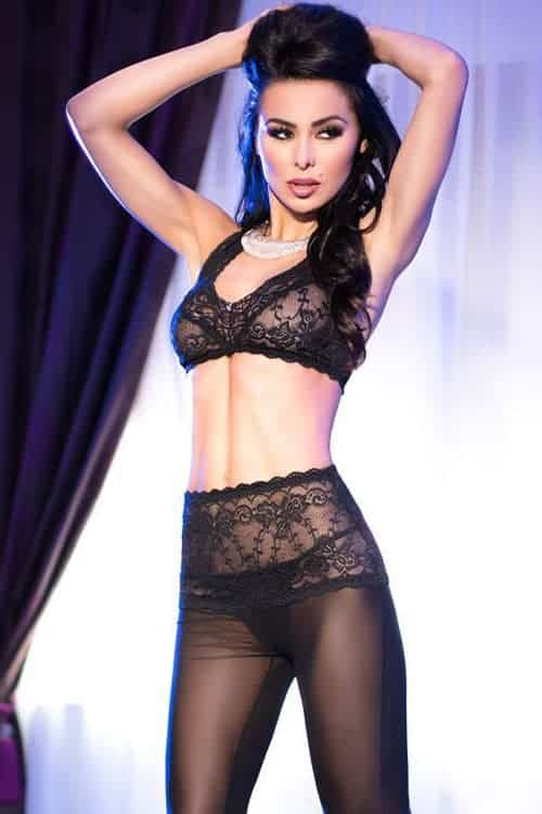 Chilirose Tulle And Lace Bra And Pants Set Marys Lingerie