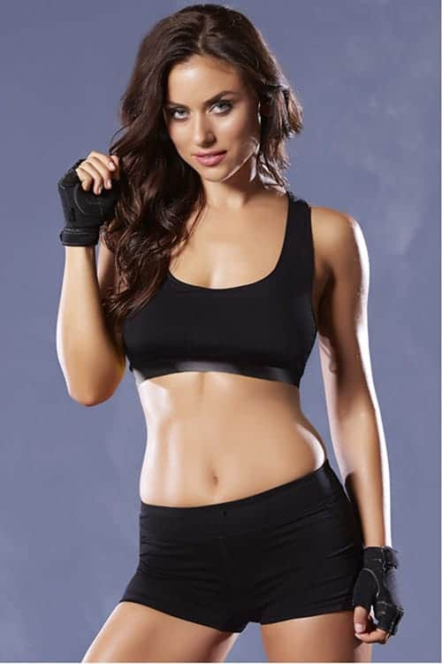 Seven Til Midnight Black Sports Bra 30124 front