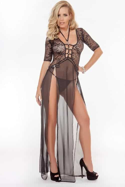 Gworld 2pc Sexy Luxe Gown front