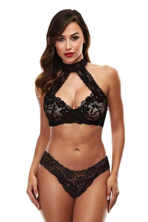 Baci Lace Halter Bikini Set fv