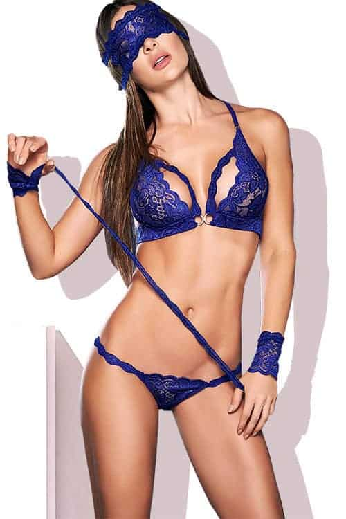 Mapale Royal Blue Bra Set front