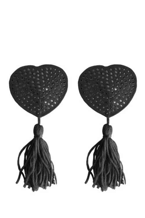 Ouch Heart Black Nipple Covers