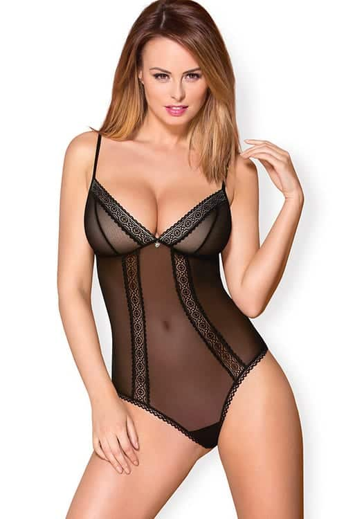 Obsessive Mesh and Lace Teddy 862-TED-1 front