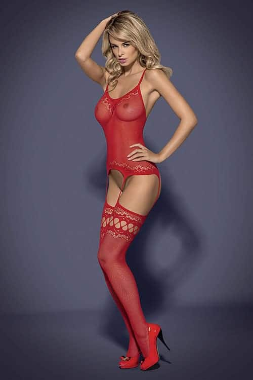 Obsessive F214 Red Bodystocking front