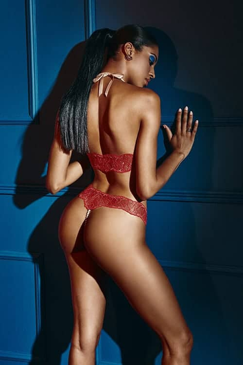 Bracli Sydney Double Pearl Red Thong back