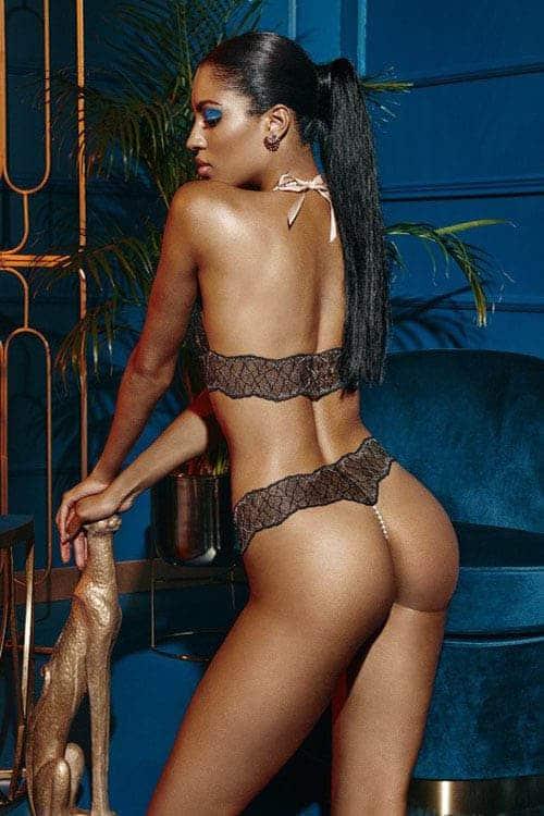 Bracli Sydney Double Black Pearl Thong back 2