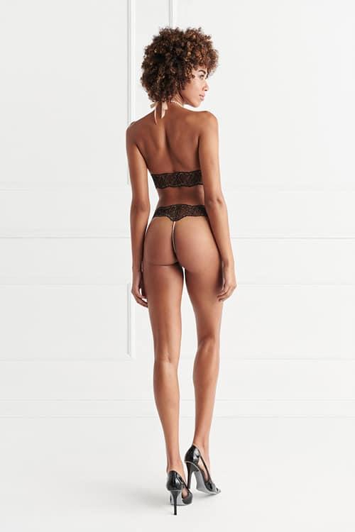 Bracli Sydney Single Black Pearl Thong back3