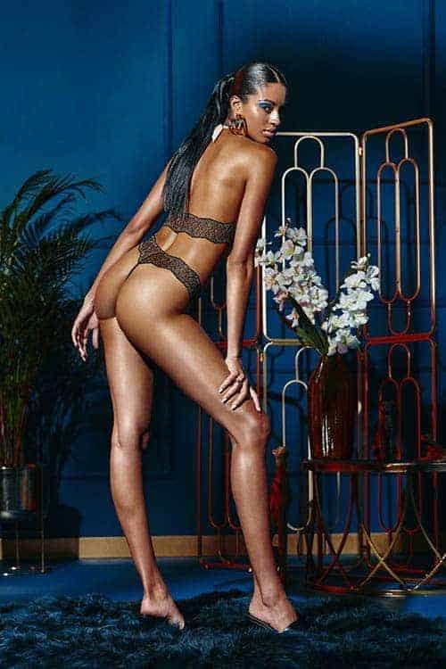 Bracli Sydney Dark Single Pearl Black Thong back 3
